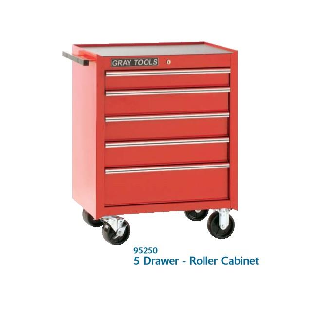 jual 5 drawer roller cabinet pro series model 93250 lemari tools merek gray tools harga. Black Bedroom Furniture Sets. Home Design Ideas