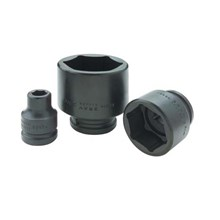 IMPACT SOCKET BLACK INDUSTRIAL FINISH 3PER4 DRIVE 6 POINT STANDARD LENGTH SOCKET  - KUNCI T SOCKET GRAY TOOLS