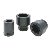 IMPACT SOCKET BLACK INDUSTRIAL FINISH 8 POINT  STANDARD LENGTH - KUNCI T SOCKET GRAY TOOLS