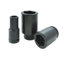 The impact of Black Industrial Finish-Drive Deep Length 6 Point Socket