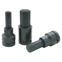 Impact Socket Black Industrial Finish - Drive Standard Length Hex Head Sockets