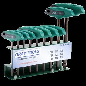 T HANDLE S2 9 PIECES TORX® SCD3009 - KUNCI T HEX GRAY TOOLS