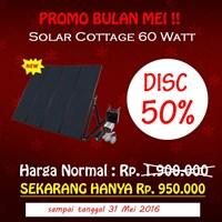 Paket Penerangan Rumah Tenaga Surya Matahari Shs 60 Watt (Solar Home System) - Topray