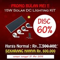Jual Paket Penerangan Rumah Tenaga Surya  Matahari Shs 15 Watt (Solar Home System) - Topray