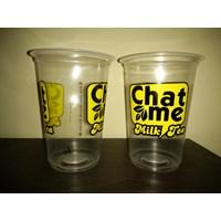 Distributor Sablon gelas plastik tebal berkualitas  atau cetak gelas plastik 8gram 3