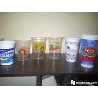Beli Sablon gelas plastik tebal berkualitas  atau cetak gelas plastik 8gram 4