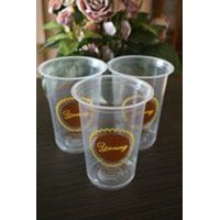 Sablon gelas plastik tebal berkualitas  atau cetak gelas plastik 8gram