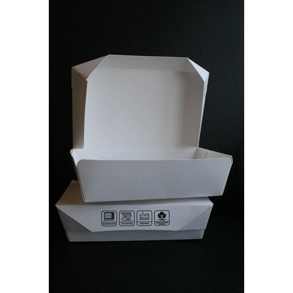 Lunch Box Paper Atau Kotak Makan Kertas Foodgrade Size L