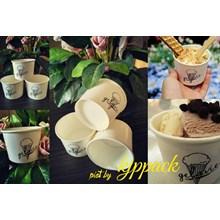 Cup Ice Cream 4Oz Atau Gelas Kertas Es Krim 4Oz  ( MIN ORDER PRINTING HANYA 1000PCS )