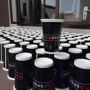 Jasa Sablon paper cup atau sablon cetak logo gelas kertas