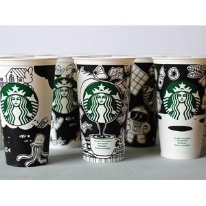 Dari Jasa Sablon paper cup atau sablon cetak logo gelas kertas ( MIN ORDER PRINTING HANYA 1000PCS ) 2