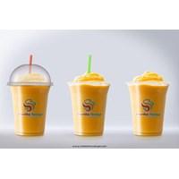 sablon gelas plastik tebal untuk bisnis minuman