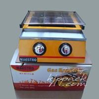 Jual Mesin Pemanggang Gas Roaster -  Kompor 2 Tungku