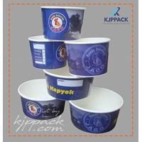 Soup cup paper printing atau cetak logo kemasan bakso