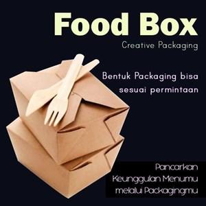 box makanan tahan air atau kemasan dengan kertas food grade berlaminasi ( MIN ORDER PRINTING HANYA 1000PCS )