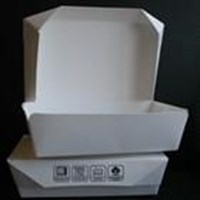 Jual Box makanan trapesium bahan kertas food grade berlaminasi size M 2