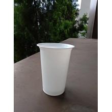 plastic cup 16 oz Putih tebal 8 gram kualitas terbaik