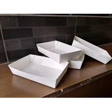 Kotak Makan Kertas / Piring Kertas / Food Grade Box / Food Tray Large / Printing Hanya 1000pcs