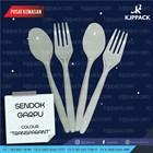 Garpu Transparant / Garpu Makan Plastik / Garpu plastik Bening / Garpu Makan Bening 1