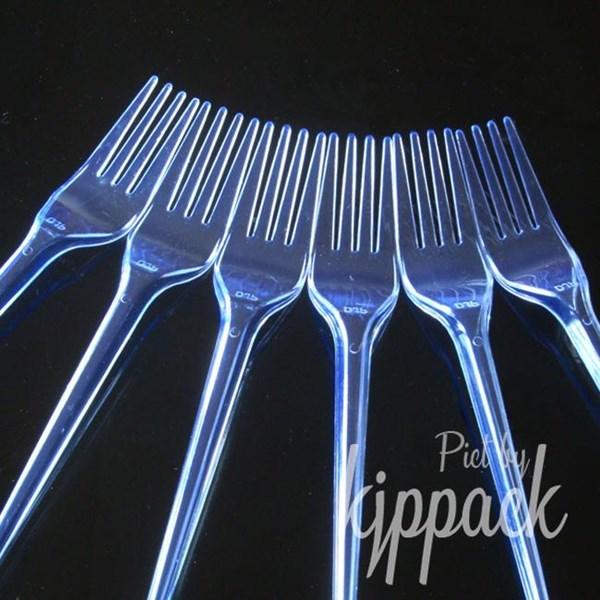 Garpu Transparant / Garpu Makan Plastik / Garpu plastik Bening / Garpu Makan Bening