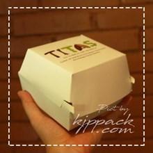 Kotak Kemasan Burger  ( MIN ORDER PRINTING HANYA 1000PCS )