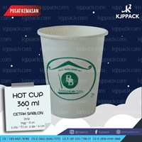Cetak sablon 1 warna Hot Cup Paper 8 Oz