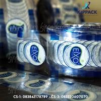 Lid sealer cup atau tutup gelas plastik press gambar buah dan kartun