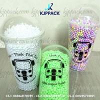 Plastic Cup Sablon 22 oz