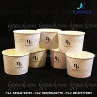 Mangkuk Kertas Tahan Panas 17Oz atau paper bowl murah min cetak hanya 1000pcs