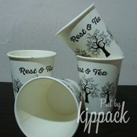 Jual Hot Cup Paper size 10 Oz 270 ml polos(Gelas Kertas untuk Kopi dan minuman panas) Kota Bandung