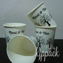 Hot Cup Paper size 10 Oz 270 ml polos(Gelas Kertas untuk Kopi dan minuman panas)