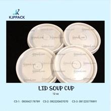 Lid Soup Cup 12 oz tutup gelas kertas atau lid paper cup