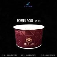 Soup Cup 12 oz Cetak Desain - Double Wall Bowl Paper Desain Full Color - Murah dan Berkualitas