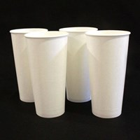 Paper Cup 22 oz putih polos atau gelas kertas murah kemasan minuman ukuran 22oz