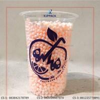 Cetak Plastik Cup 16oz - Sablon Plastik Cup 16oz - Cetak Gelas Plastik - Gelas Juice