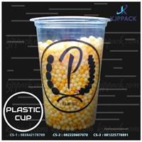 Sablon Plastik cup Murah dan Berkualitas - Plastik Cup Bahan PP tebal - Kemasan Take Away Cup