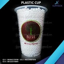 gelas plastik tebal 8gram dengan jasa sablon 2 warna