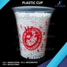 kemasan minuman gelas plastik tebal  size 12 oz