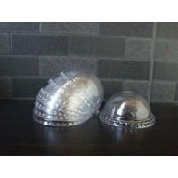 Jual tutup cembung gelas plastik atau lid doom plastic cup diameter besar ( MIN ORDER PRINTING HANYA 1000PCS )