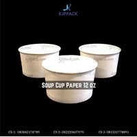 Mangkok Sup / Soup Cup Paper Cup 12 oz - Cs4