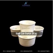 Mangkuk Sup Polos 24 oz / Soup Cup Paper Bowl 24 oz - Cs4