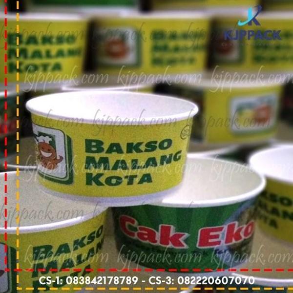 Kemasan Bakmi GM / Mangkok bubur - Paper Bowl Kemasan Makanan Berkuah