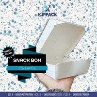 Snack Box Large Bahan Food Grade - Polos maupun cetak full Color