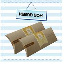 Kotak Kemasan Kebab Polos/ Kebab Box Cs4