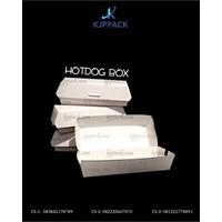 Hotdog Box atau Kemasan untuk Sosis