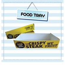 Food Tray atau paper tray small kemasan bahan kertas food grade - ( custom Printing)