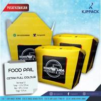 Jual Cetak Kemasan Food Pail ( Rice Box ) ukuran Besar / Large