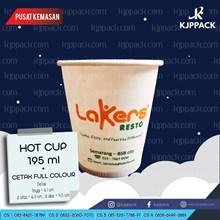 Gelas Kertas Paper Cup untuk Minuman Panas 6.5 oz - Sablon Hot Cup Paper - Sablon Murah