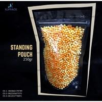 Plastik kemasan Transparan ( Standing Pouch ) 250 gr - STANDING POUCH BENING