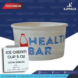 Paper Cup Es Krim 5 oz sablon 2 warna Cs4
